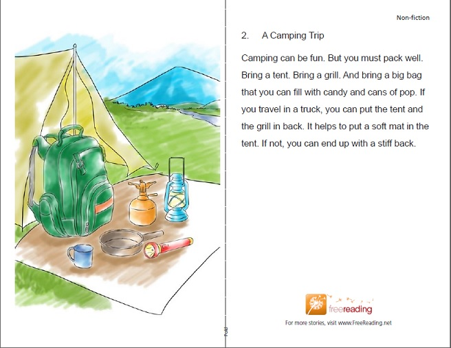 Free reading a camping trip