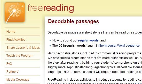 Free decodable texts | Spelfabet