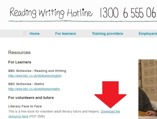 The Reading Writing hotline
