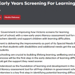 Victorian Learning Difficulties screening assessment